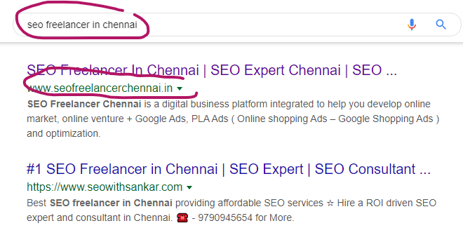SEO Freelancer in Chennai